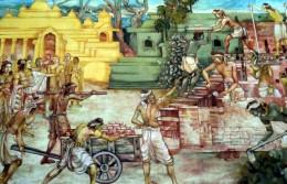 祇園精舎の寄進(スリランカ寺院壁画)