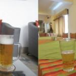 左:ライオンビール 右:スリーコインズ