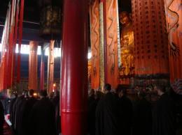 天童寺法要の様子