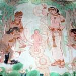 野生洲香雪画(スリランカ寺院)〔サールナート〕