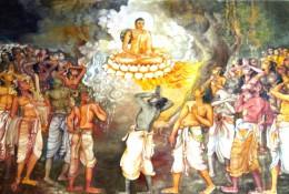 祇園精舎の奇跡(スリランカ寺院壁画