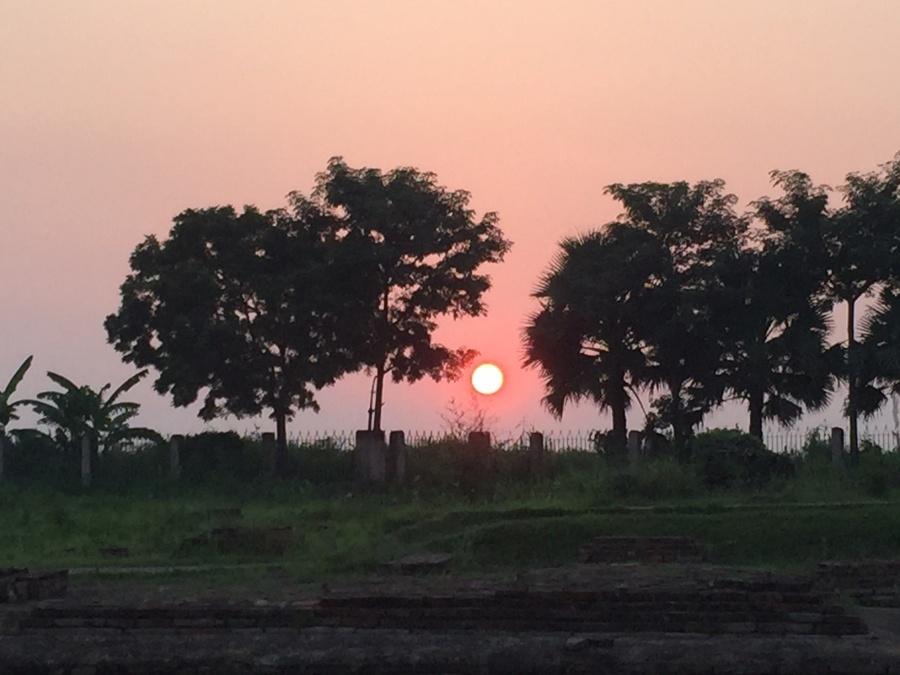 バイシャリの夕日